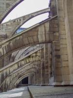 Frankreich Paris Notre Dame de Paris Kathedrale Glockenturm Turm Turmbesteigung Stützpfeiler