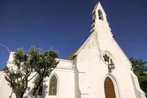 Südafrika South Africa Weinregion Winelands Stellenbosch Kirche kapholländischer Stil