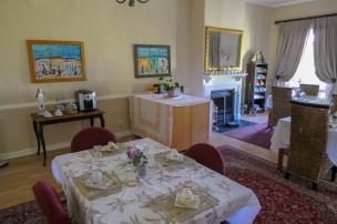 Südafrika South Africa Weinregion Winelands Stellenbosch Hoopenburg Guesthouse Frühstückszimmer