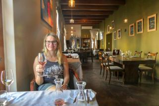 Südafrika South Africa Weinregion Winelands Stellenbosch Restaurant Oppie Dorp Wein