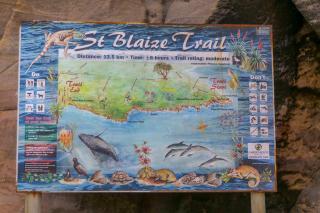 Südafrika South Africa Kap Mossel Bay St Blaize Trail Karte Wanderpfad Wanderung