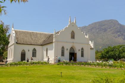 Südafrika South Africa Weinregion Winelands Franschhoek Kirche kapholländisch