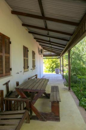 Südafrika South Africa Weinregion Winelands Stellenbosch Hoopenburg Guesthouse Ranch Veranda