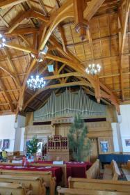 Südafrika South Africa Weinregion Winelands Franschhoek Kirche Innenraum