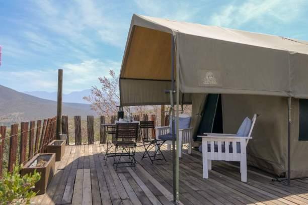 Südafrika South Africa Kleine Karoo Oudtshoorn Schoemanshoek Le Petit Karoo Ranch Safarizelt Terrasse