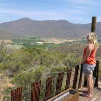 Südafrika South Africa Kleine Karoo Oudtshoorn Schoemanshoek Le Petit Karoo Ranch Safarizelt Veranda Ausblick Berge