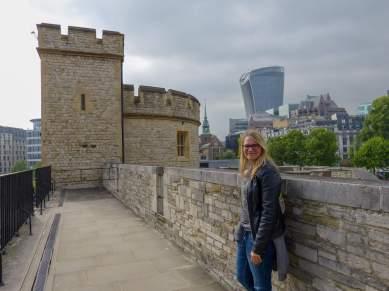 Großbritannien England UK London Tower of London Burg Befestigungsmauer