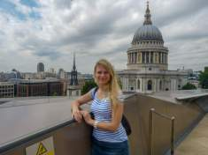 Großbritannien England UK London St Pauls Cathedral Kathedrale Dachterrasse Kaufhaus One New Change Ausblick