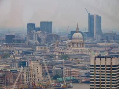 Großbritannien England UK London London Eye Riesenrad St Pauls Cathedral Ausblick