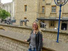 Großbritannien England UK London Tower of London Burg Mauer Affen