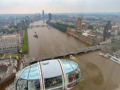 Großbritannien England UK London London Eye Riesenrad Themse Gondel AUsblick