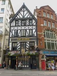 Großbritannien England UK London City of London Fachwerkhaus The George