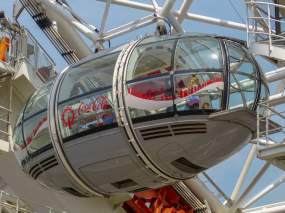 Großbritannien England UK London London Eye Riesenrad Themse Gondel Glasgondel