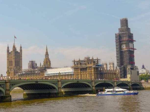 Großbritannien England UK London Big Ben Victoria Tower Clock Tower Houses of Parliament britisches Parlament Gerüst Restaurierung