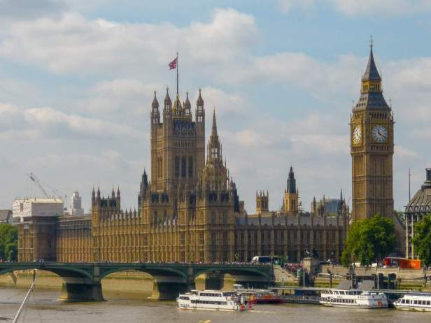Großbritannien England UK London Houses of Parliament Big Ben Victoria Tower britisches Parlament