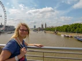 Großbritannien England UK London Big Ben Houses of Parliament Themse London Eye