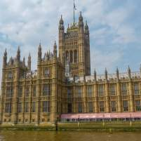 Großbritannien England UK London Themse Bootsfahrt River Thames Cruise Boot Houses of Parliament Parlament