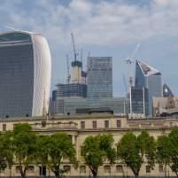 Großbritannien England UK London Themse Bootsfahrt River Thames Cruise Boot Walkie Talkie modernes London Finanzdistrikt