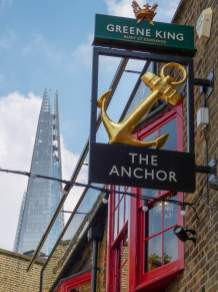 Großbritannien England UK London Southbank Südliches Ufer Bankside Pub The Anchor The Shard