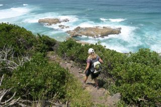 Südafrika South Africa Garden Route Kap Plettenberg Bay Robberg Nature Reserve Naturreservat Nelson Bay Cave Höhle Wanderung