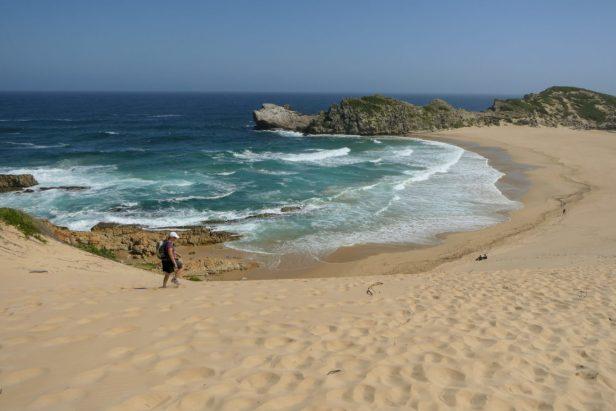 Südafrika South Africa Garden Route Kap Plettenberg Bay Robberg Nature Reserve Naturreservat Halbinsel Wanderung Witsand Düne Tombolo Strand