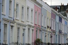 London England UK Notting Hill Häuser pastell