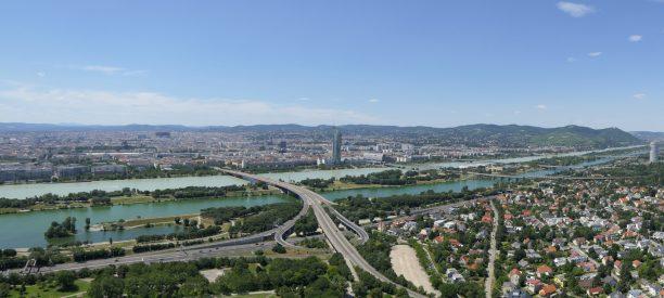 Wien Vienna Österreich Donauturm Ausblick Stadt Donau Panorama