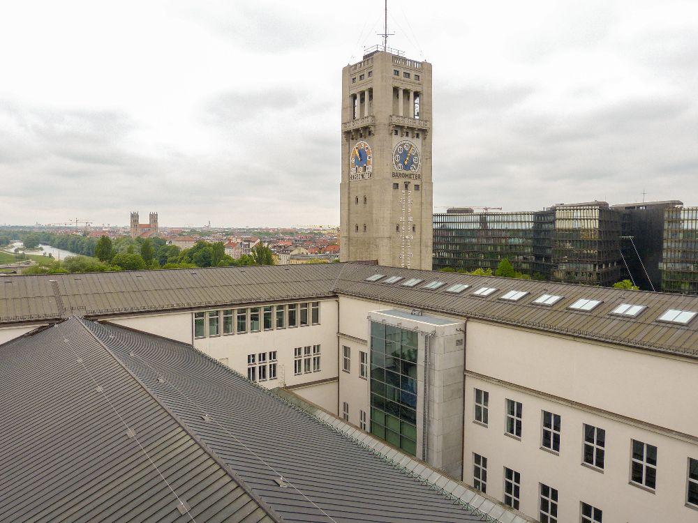 Deutsches Museum München Deutschland Naturwissenschaft Technik Turm Ausblick