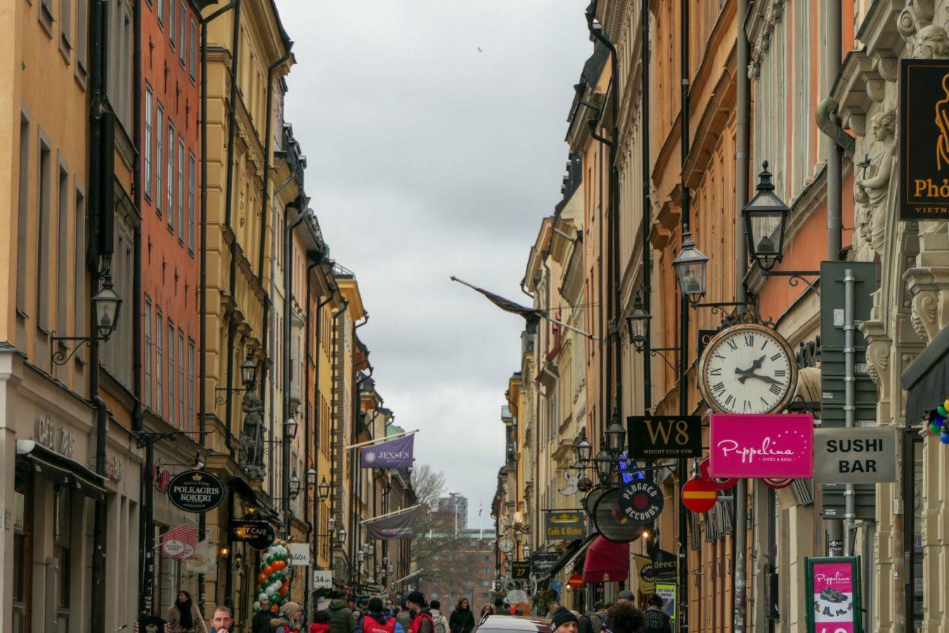 Stockholm Schweden Gamla Stan Stadsholmen Altstadt Gasse Stora Nygatan