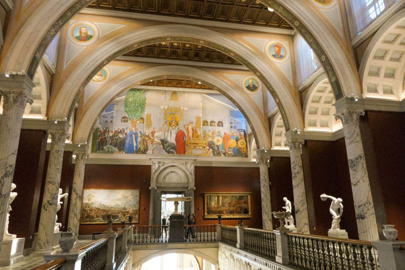 Stockholm Schweden Nationalmuseum Museum Kunst Treppenhalle