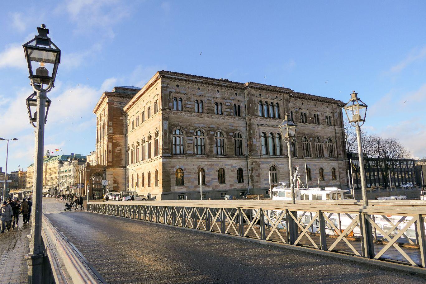 Stockholm Schweden Skeppsholmen Skeppsholmsbron Nationalmuseum