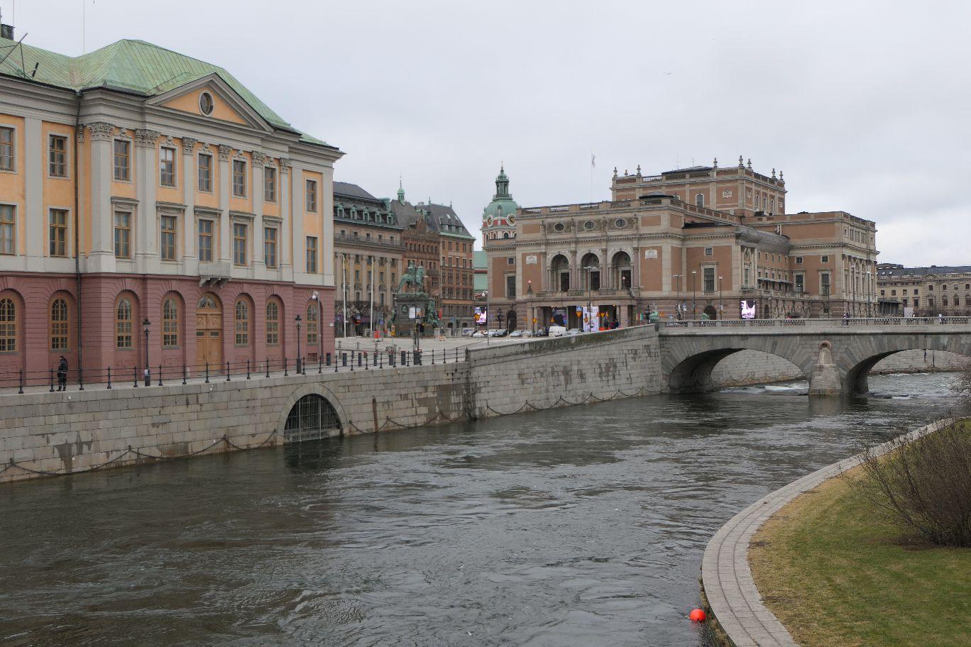 Stockholm Schweden Brücke Helgeansdholmen Oper