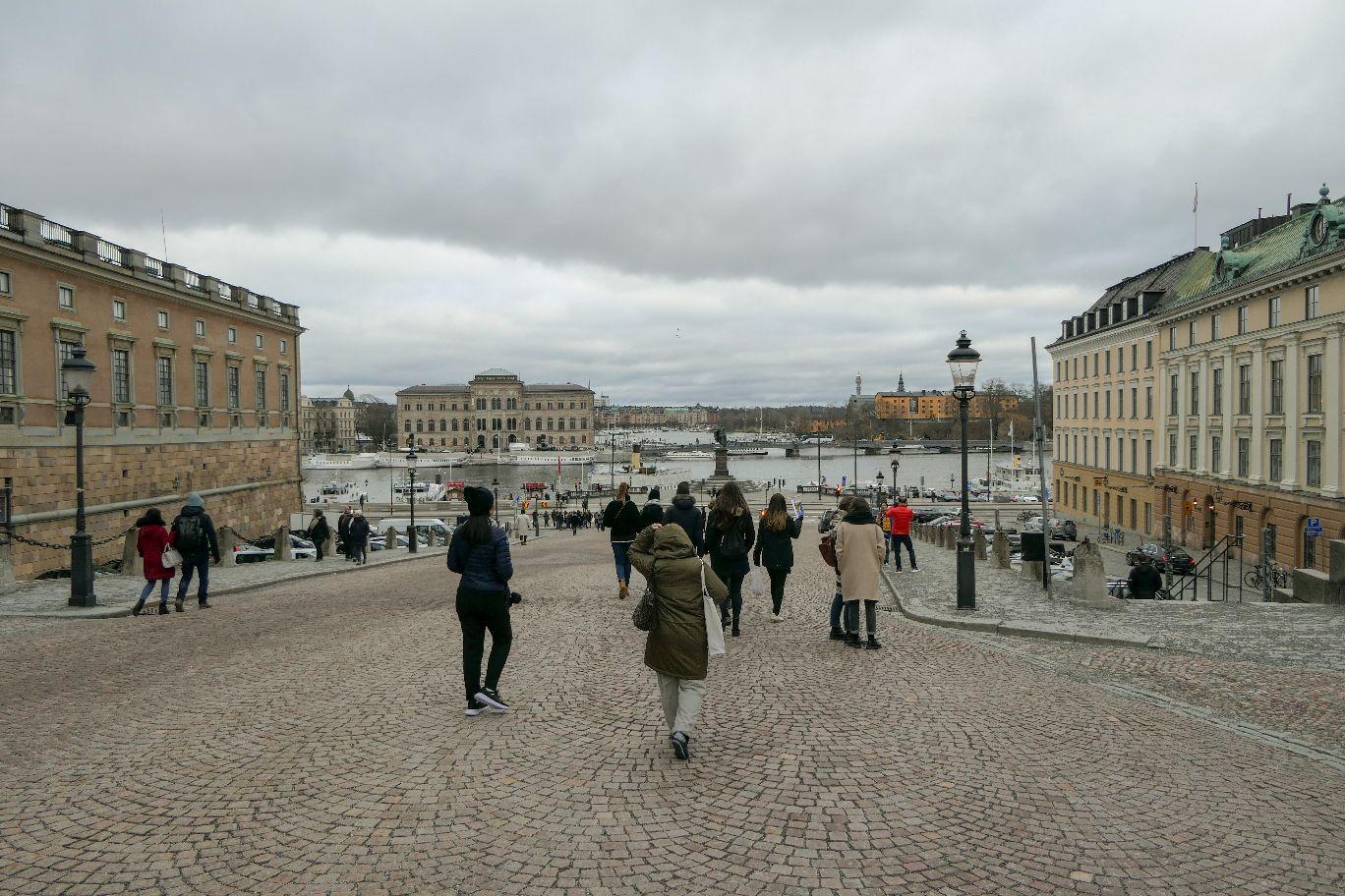 Stockholm Schweden Kungliga Slottet Schloss Stadsholmen