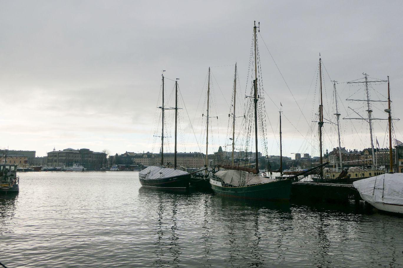 Stockholm Schweden Djurgarden Wasser Schiffe