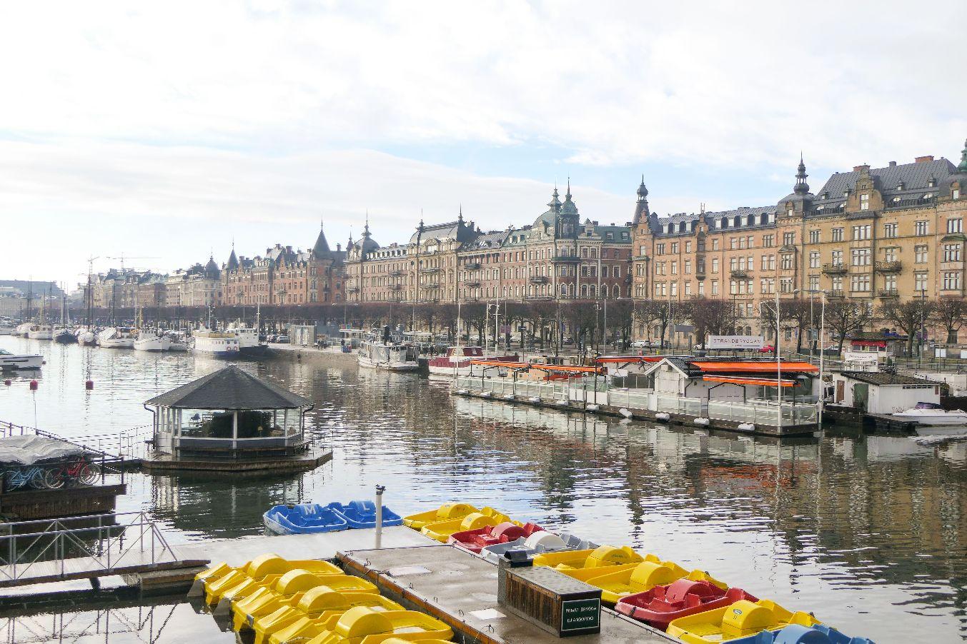 Stockholm Schweden Djurgardsbron Strandvägen Prachtstraße