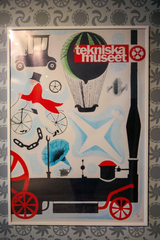 Stockholm Schweden Museum Technikmuseum Tekniska Museet Plakat