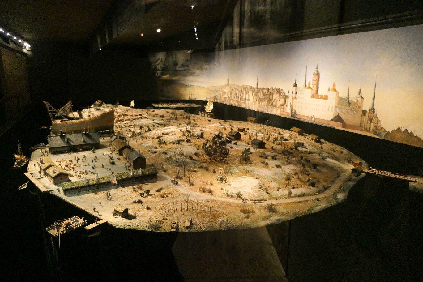 Stockholm Schweden Djurgarden Vasa Museum Schiff Kriegsschiff historisch Modell