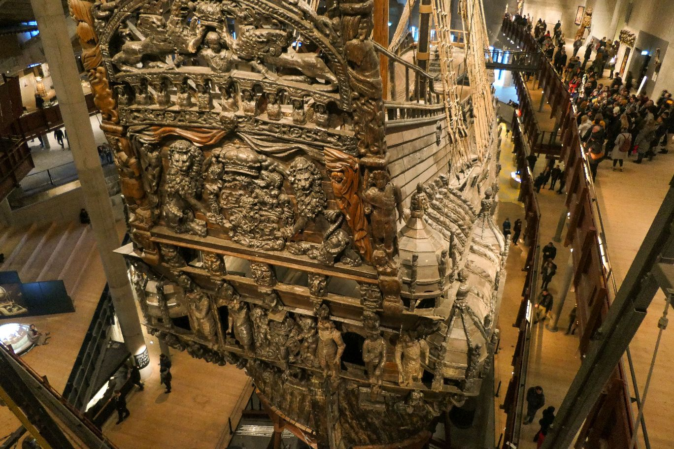 Stockholm Schweden Djurgarden Vasa Museum Schiff Kriegsschiff historisch Heck