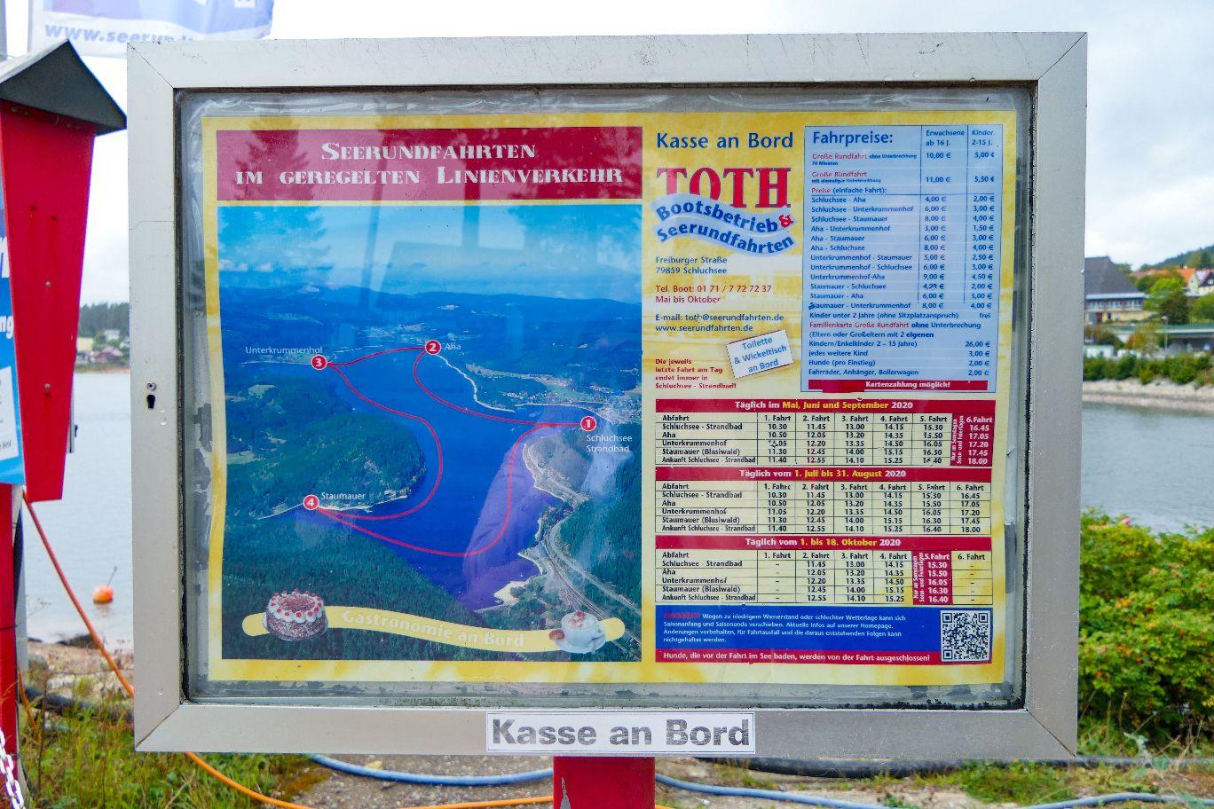 Deutschland Schwarzwald Hochschwarzwald Schluchsee Bootstour
