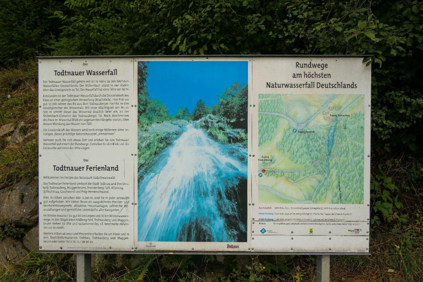 Deutschland Schwarzwald Hochschwarzwald Todtnauberg Todtnauer Wasserfall letzte Stufe