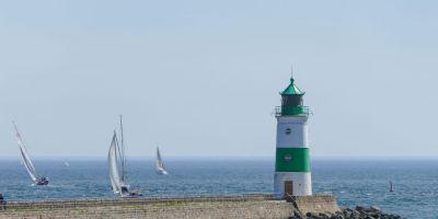Deutschland Ostsee Schlei Schifffahrt Leuchtturm Schleimünde Lotseninsel