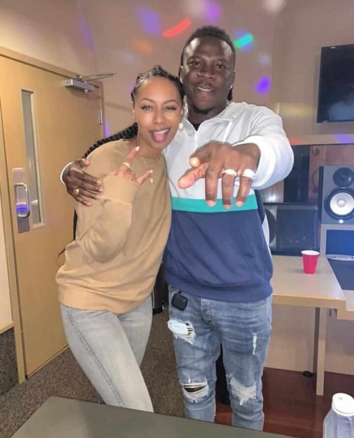 Stonebwoy caught in the studio with Keri Hilson