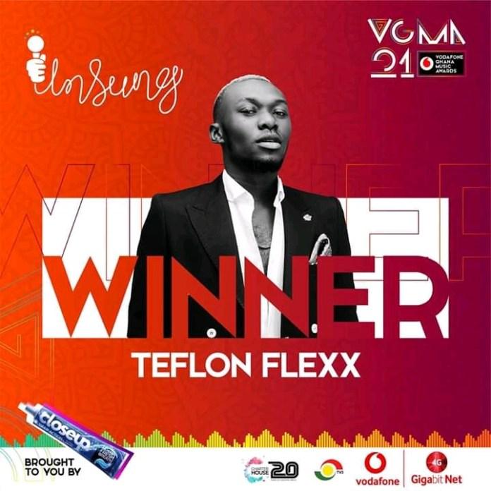 Upper East's Teflon Flexx wins the 2020 VGMA's Unsung category