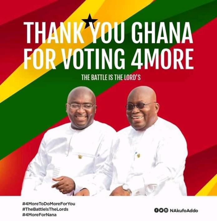 Nana Akufo-Addo re-elected President of Ghana