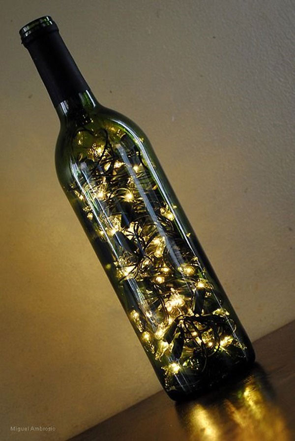 DIY wine bottle Christmas lights | iChristmasLight