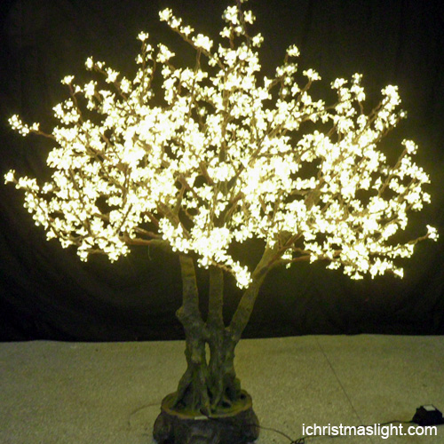 Artificial Warm White LED Weeping Cherry Tree