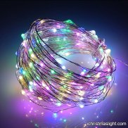 Multicolor copper wire LED starry lights