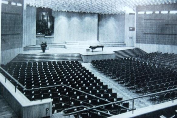 Konzertsaal der Beethovenhalle im alten Glanz