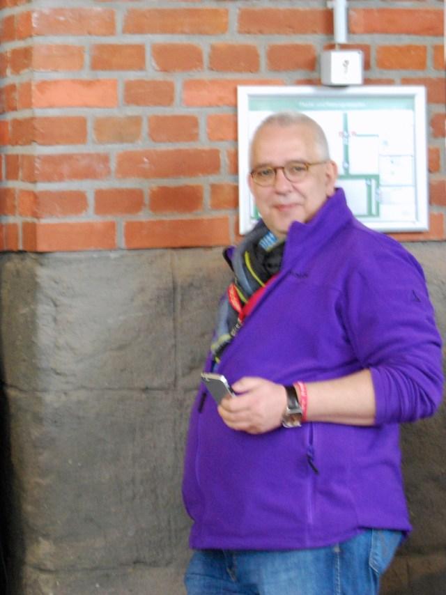 Frank Michna in seiner lila Phase