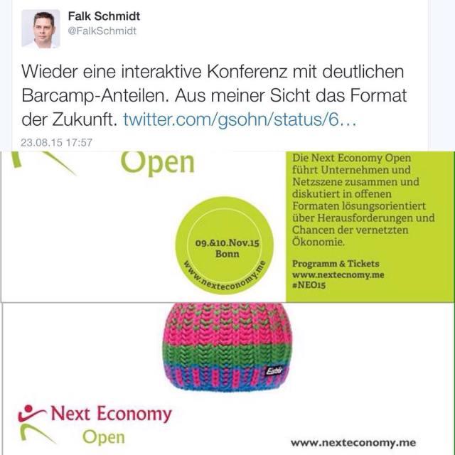 Matchen - Moderieren - Managen zur Next Economy Open in Bonn